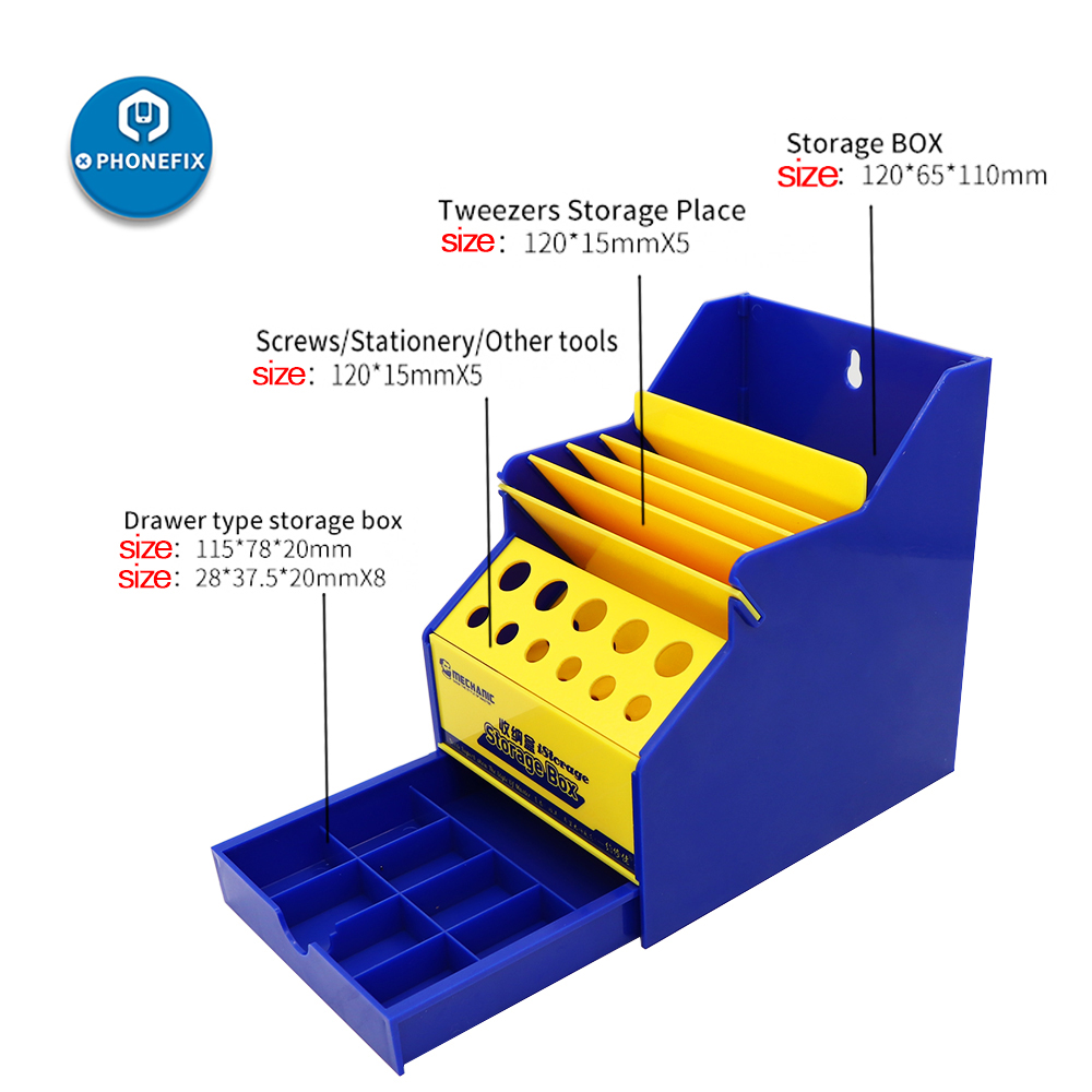 Mechanic Storage Box PVC Multifunctional Office Desktop Helper Mobile Phone Toolbox Electronic Screwdriver Gadget Working Box