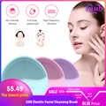 Mini USB elektryczna szczotka do czyszczenia twarzy Foreoing silikonowy Sonic Cleaner głębokie czyszczenie porów wodoodporna skóra masaż