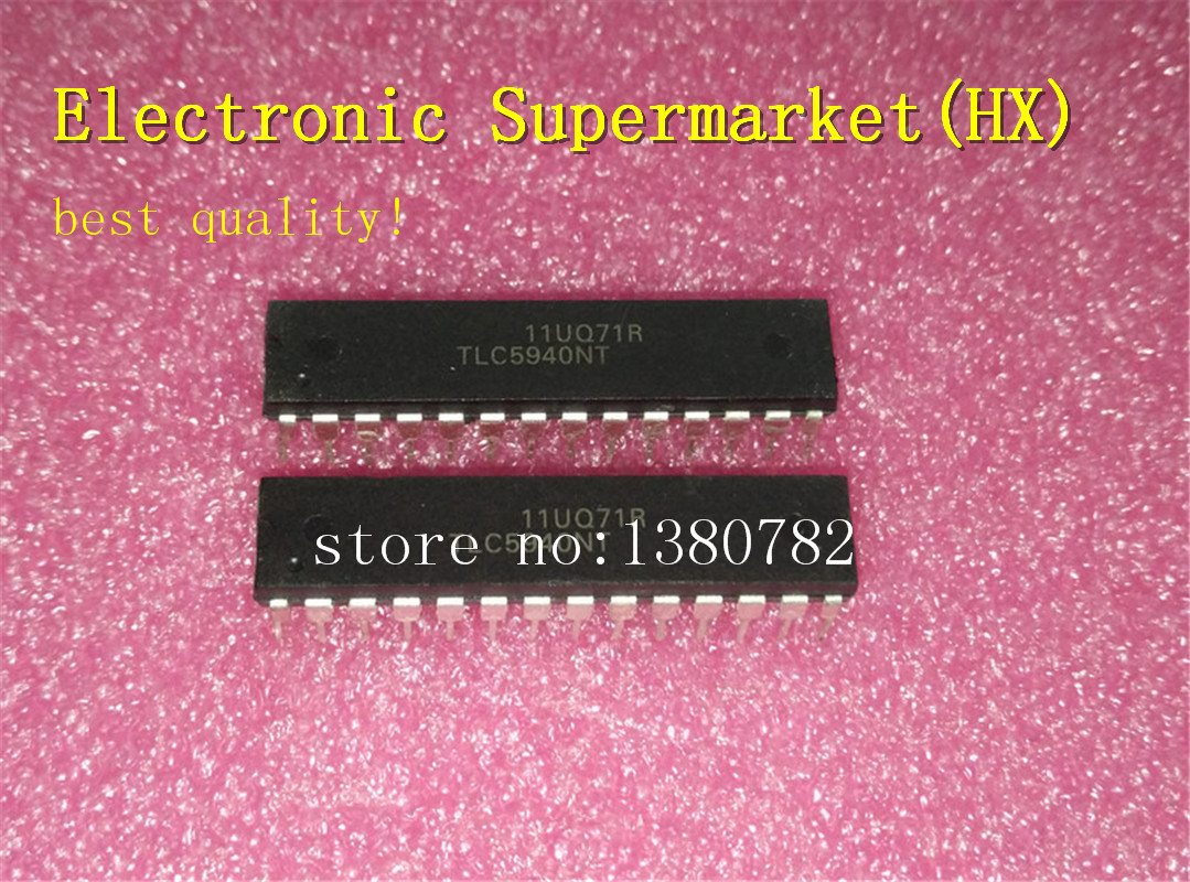 Free Shipping 50pcs/lots TLC5940NT  TLC5940  DIP 28  New original  IC In stock!-in Integrated Circuits from Electronic Components & Supplies    1