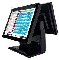 15 inch dual touch screen POS/All in one bank card credit card Terminal payment POS System