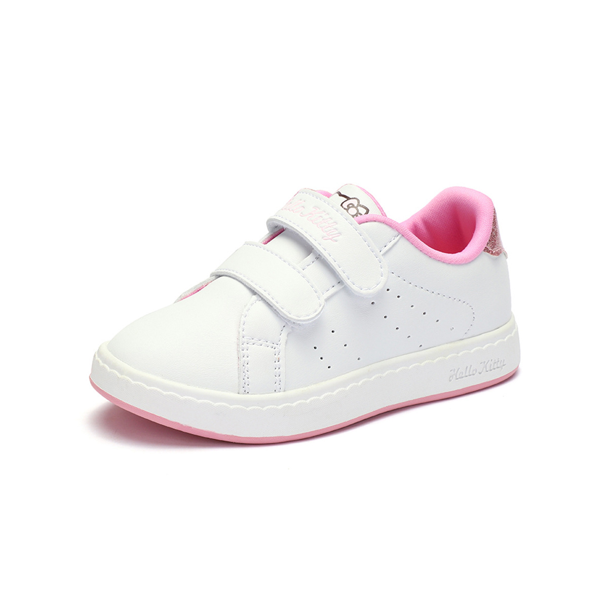 Hello Kitty Autumn New Style Girls Children Shoes Classic Simple Versatile College Style Velcro Canvas Shoes
