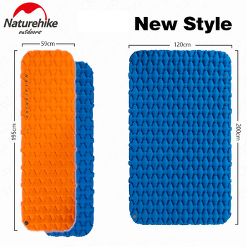 NatureHike Inflatable Sleeping Pad Nylon TPU Portable Camping Mat Lightweight Outdoor Air Mattress Travel Cushion Moisture-Proof цена 2017