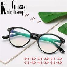 -0.5 -1.0 -1.5 -2.0 -3.0 -3.5 -4.0 -4.5 a 6.0 acabado miopia óculos feminino vintage redondo floral imprimir óculos de vista curta