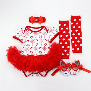 Image 5 - 2020 Christmas Baby Costumes Romper Dress Santa Claus Cosplay Party Outfit Bebes Jumpsuit Newborn Baby Girls Clothes
