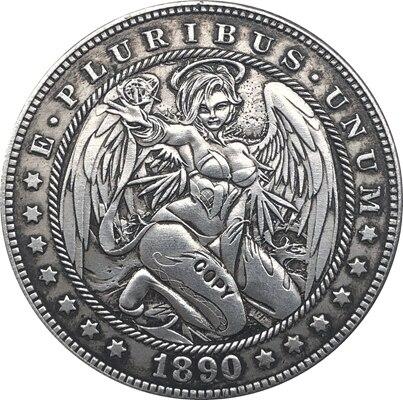 Hobo Nickel 1890-CC USA Morgan Dollar COIN COPY Type 152