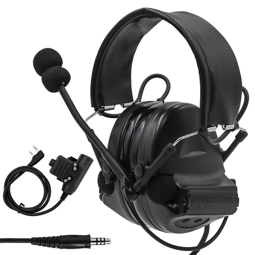 Z Tactical Headset Comtac II Military Headphones Noise Reduction Pickup Earphone Ear Protection Shooting Earmuffs+ U94 PTT Plug