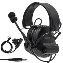 Z Tactical Headset Comtac II Military Headphones Noise Reduction Pickup earphone Ear Protection Shooting earmuffs+ U94 PTT Plug недорого