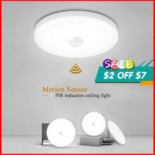 Led sensor de movimento luz 110v 220v quarto pir luzes da noite 15w 20 30 40 sensor lâmpada parede do teto para casa de banho iluminação