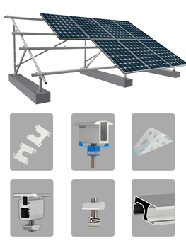 19-29mm adjustable solar panel mounting bracket rv boat roof photovoltaic kit solar system accessories