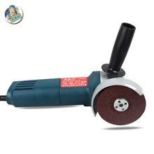 цена на Anjieshun multi-function variable speed angle grinder highquality grinding metal electric cutting machine polishing abrasive set
