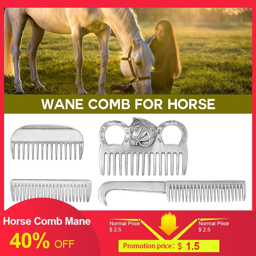 Aluminum Alloy Horse Comb Mane Tail Pulling Comb Metal Horse Grooming Tool 6.5IN / 3.9IN / 3.5IN / 3.2IN Horse Equipment 2019