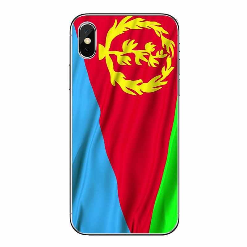 สำหรับ Motorola Moto X4 E4 E5 G5 G5S G6 Z Z3 G3 C Play Plus Eritrea Flag world บิน natioal แบนเนอร์นุ่มโปร่งใสกรณีครอบคลุม