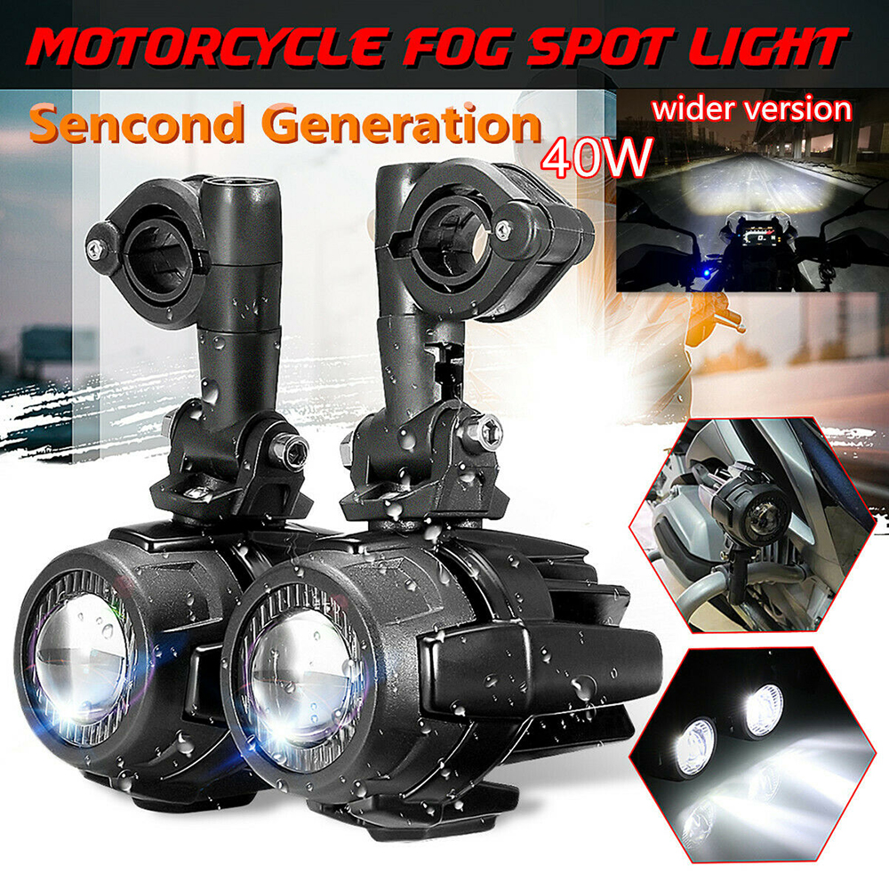 Fog Lights Motorcycle LED R1200GS Fog Light  Spot LED Auxiliary With Protector Guard Driving Lamp For BMW R1200GS ADV 2013-2019