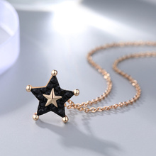 Fashion starfish pendant necklace for women exquisite jewelry Brass does not fade necklaces fashion star necklace women jewelry necklaces for women judaism menorah star of david pendant necklace 39x32mm silver plated color fashion jewelry