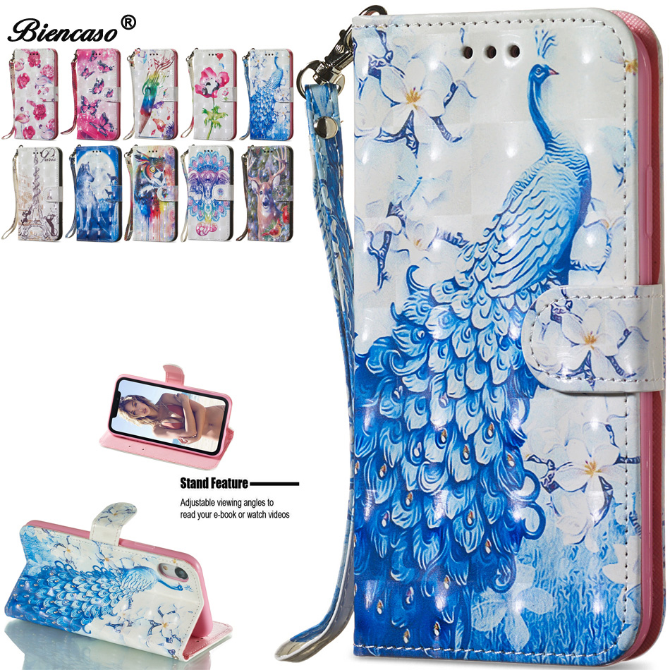 Peacock Flip PU Leather Wallet Cover Case For Coque Samsung Galaxy S20 Ultra S20 Plus NOTE 10 PRO A20E A20 A30 M10S A40 A10 Capa image
