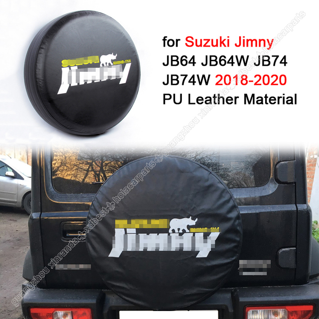 """Spare Wheel Cover Car Tire Cover for Suzuki Jimny JB23JB43JB64JB74 14"""" 15"""" Inch Protective Cover car accessories for2012 ~2019 +"""