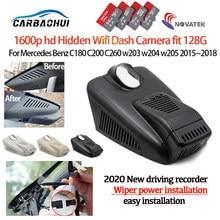 Novo! Plug and play gravador de vídeo do carro dvr câmera traço cam para mercedes benz c180 c200 c260 w203 w204 w205 2015 ~ 2018 hd 1600p