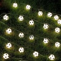 1.5m 3m 6m LED futbol topları dize işıklar çelenk USB/akülü futbol noel peri ışıkları ev partisi dekorasyon için