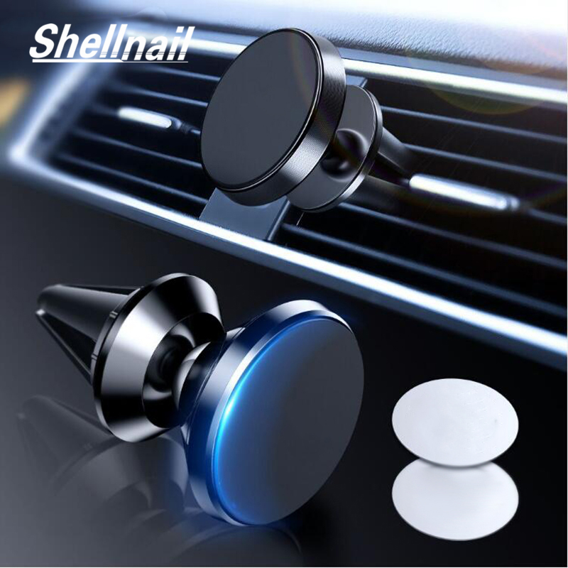 SHELLNAIL Magnetic Car Phone Holder For Samsung Galaxy Note 9 8 Air Vent Mount Magnet Phone Holder For IPhone XS Max GPS Stands