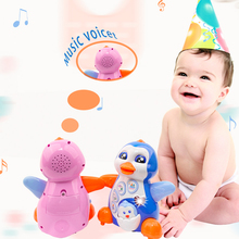 Dancing penguins over 6 months old have lighting music and electric universal walking function for 1-year-old children cheap 3 years old AA*3 Unisex Plastic Sea Life Battery Operated Educational Flashing Sounding Interactive electronic Certificate