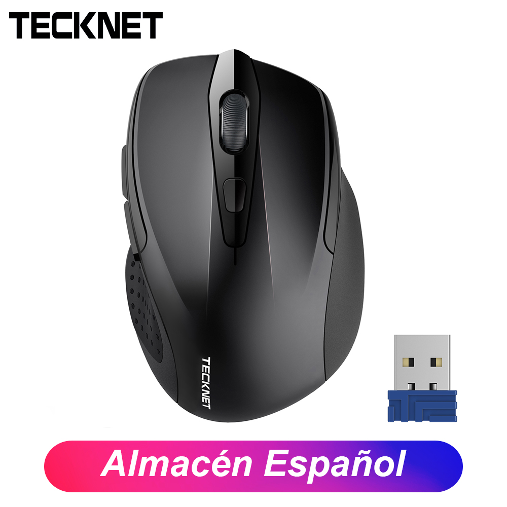 TeckNet 2.4G USB Cordless Mice Optical PC Laptop Wireless Mouse  Adjustment 2600 DPI 6 Buttons For Laptop Desktop Computer Mouse