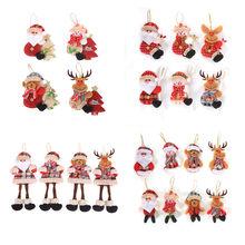 2021 decoraciones de Año Nuevo Kerst Santa Claus muñeca adornos de Navidad adornos navideños para el hogar Natal Noel Natal Gfits