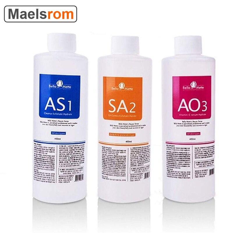 AS1 SA2 AO3 Aqua Peeling Solution 400ml Hydra Dermabrasion Face Clean Facial Cleansing Blackhead Export Liquid Beauty Salon