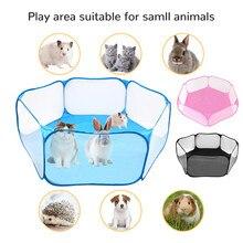 Mini animais respirável dobrável cerca para hamster hedgehog filhote de cachorro gato coelho cobaia portátil pet cat gaiola do cão tenda playpen