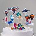 1 компл./упак. октанавтов, украшение для торта на день рождения на тему