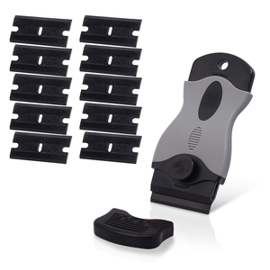 Image 1 - FOSHIO גילוח מגרד + 10PCS פלסטיק להבי רכב ויניל סרט לעטוף כלי חלון גוון מגב מדבקת דבק מסיר ביתי ניקוי