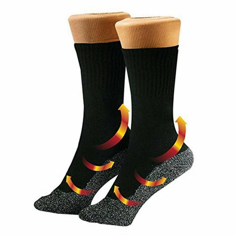 1 Pair 35 Degree Winter Thermal Heated Socks Aluminized Fibers Thicken Super Soft Unique Ultimate Comfort Socks Keep Foot Warm