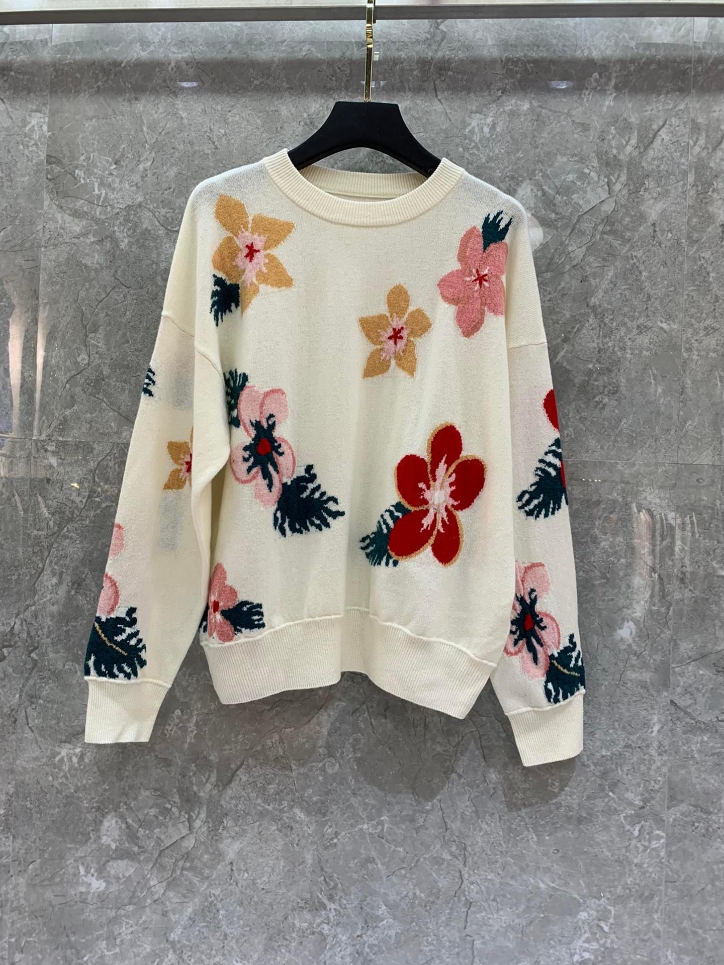 2019 inverno nova moda flor impressão lã camisola feminina tamanho s m l frete grátis para todo o mundo - 2