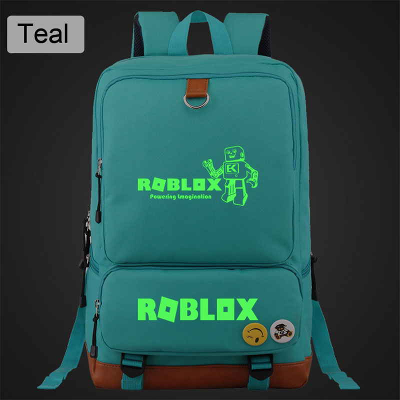 ROBLOX Casual canvas women's backpack Luminous solid simple men student school bag mochila mujer outdoor travel bags