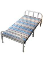 Cama dobrável cama de solteiro casa simples cama de casal escritório almoço adulto 1.2 m marchando cama de madeira cama dobrável| |   -
