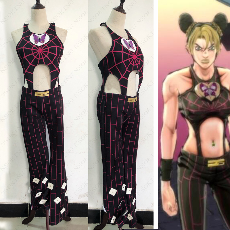 New Anime JoJo's Bizarre Adventure Jolyne Cujoh Cosplay Jolyne Kujo Costume Custom Made