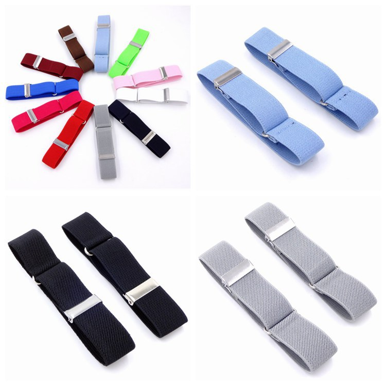 Fabric Xiu Gu WOMEN'S Shirt Armband Bracelet 2.5 Cm Solid Color Elastic Armband Europe And America Men's Sleeve Ring