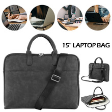 2019 Fashion New PU Waterproof Scratch-resistant Laptop Shoulder Bag 15inch Notebook Carry Case for MacBook Air