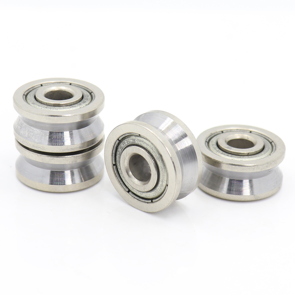 V Groove Sealed Ball Bearing (4PCS)  6*19*6 6*20*9.5*10 Mm Pulley Wheel Bearings V2/1 2.5/1 5.5/1.5  Guide Track Rlooer Bearing