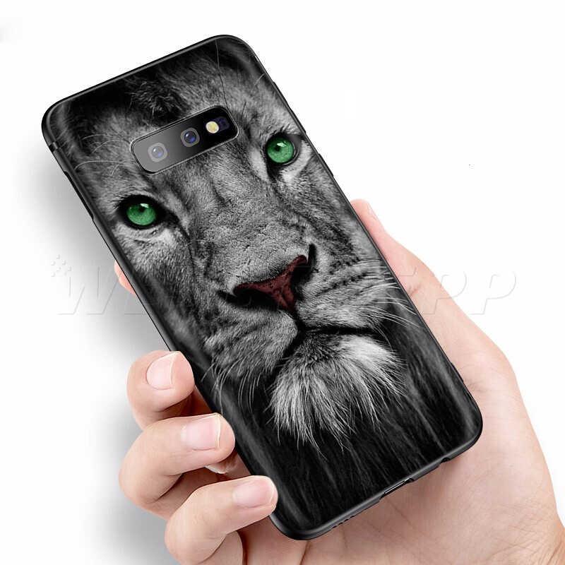 Webbedepp Moda Leão Caso Design for Samsung Galaxy S7 S8 S9 S10 Plus Nota Borda 10 8 9 A10 A20 A30 A40 A50 A60 A70