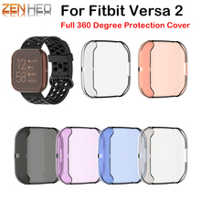 360 Degree Full Protection Cover For Fitbit Versa 2 Band Case Soft For FitBit Versa Watch 2 Accessories Screen Protective Case mijobs pc diamonds case cover for fitbit versa band screen protector watch shell smart watch accessories for fitbit versa lite