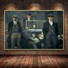 Популярная британская печатная картина в стиле бандита, сериал «скрипучие мигалки» на холсте, постеры и принты, куадросы для гостиной