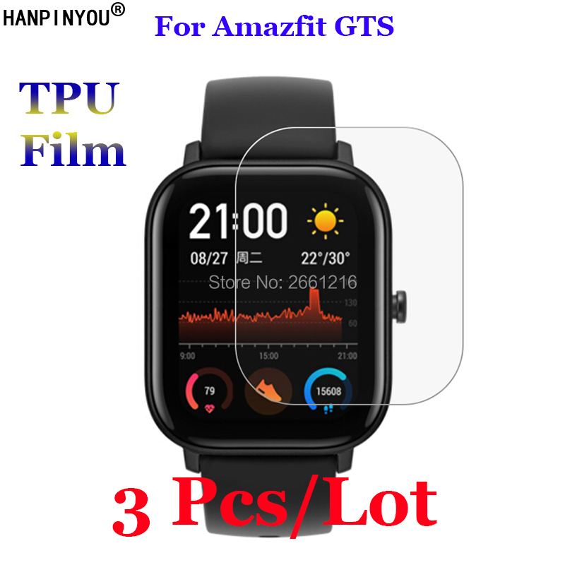 3 Pcs/Lot For Amazfit GTS Sports Smart Watch Soft TPU Protective Film Screen Protector (Not Tempered Glass)