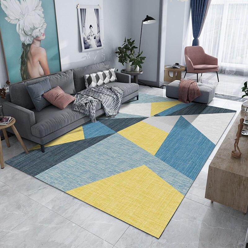 Nordique géométrique tapis de sol tapis moderne Table basse MatChild enfants tapis de jeu salon salle de bain maison porte tapis
