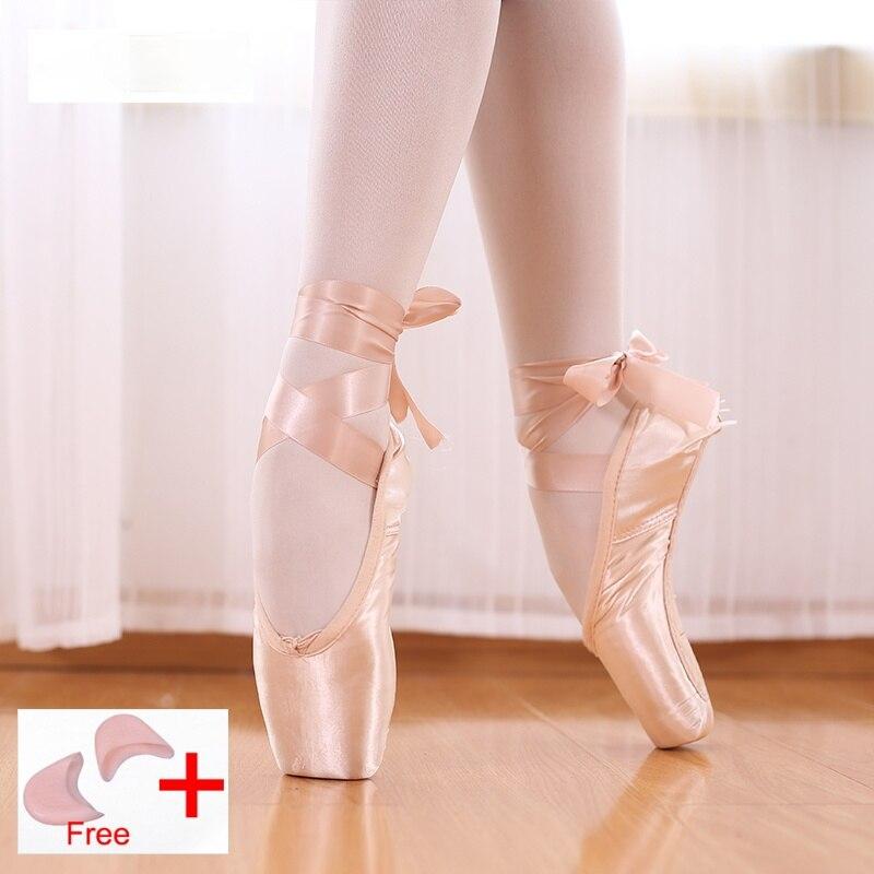 Бандаж для женской обуви, профессиональная холщовая/атласная обувь с губчатыми силиконовыми накладками на носок