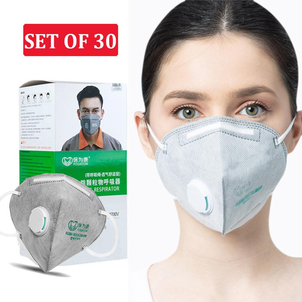 30pcs Safety ᴍᴀsᴋ Facial ᴍᴀsᴋ, ᴋɴ90Disposable ᴍᴀsᴋ, Anti Dust Face ᴍᴀsᴋ ɴ90 Ʀespirator Mouth ᴍᴀsᴋ,Comfortable Surgical ᴍᴀsᴋ Per