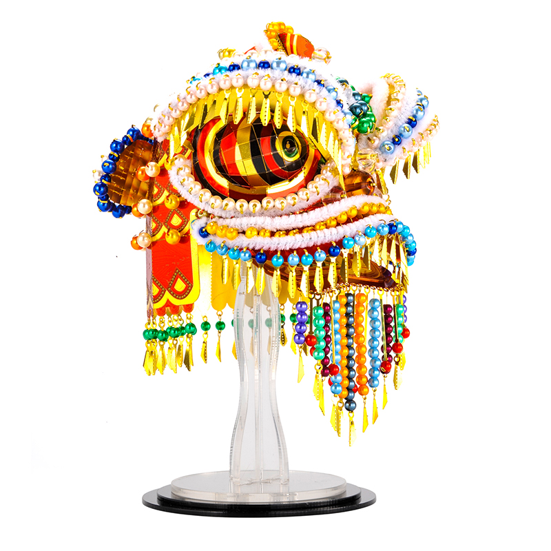 Microworld 3D Metal Nano Puzzle Chinese Traditional Lion Dancing Assemble Model Building Kit DIY 3D Laser Cut Jigsaw Toy