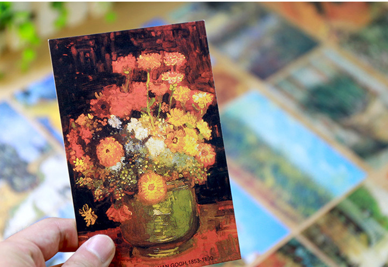 Van Gogh Postcard Paintings Gift Vintage Wish-Card/fashion 30sheets/Lot