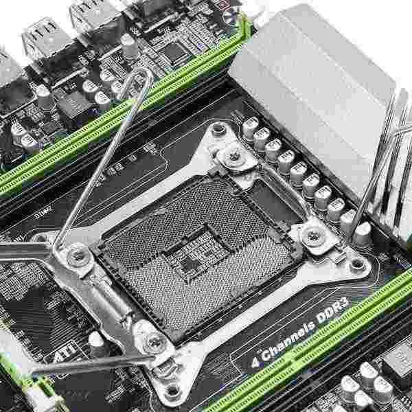 X79T Ddr3 الكمبيوتر المكتبي اللوحة Lga 2011 وحدة المعالجة المركزية الكمبيوتر 4 قناة الألعاب دعم M.2 E5-2680V2 I7 Sata 3.0 Usb 3.0 إنتل B