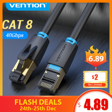CAT8 40Gbps 2000MHz CAT 8 Networking Nylon Braided Internet Lan Cable for Laptops PS 4 Router RJ45 Ethernet Cable
