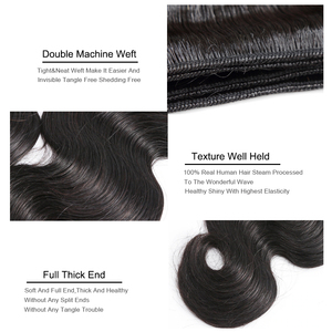 Image 5 - Missblue Peruvian Body Wave Hair Weave Bundles 100% Human Hair Bundles 30 32 34 36 38 40 Inch Natural Color Remy Hair Extensions